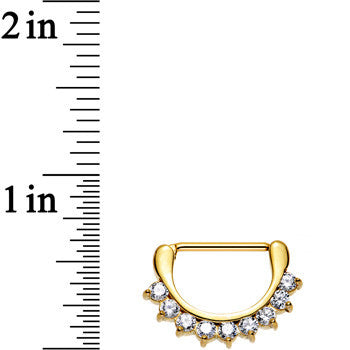 Gold PVD 316L Chic Nipple Clicker Created with Swarovski Crystals