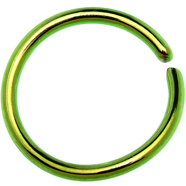 16 Gauge 3/8 Green Anodized Annealed Steel Seamless Circular Ring