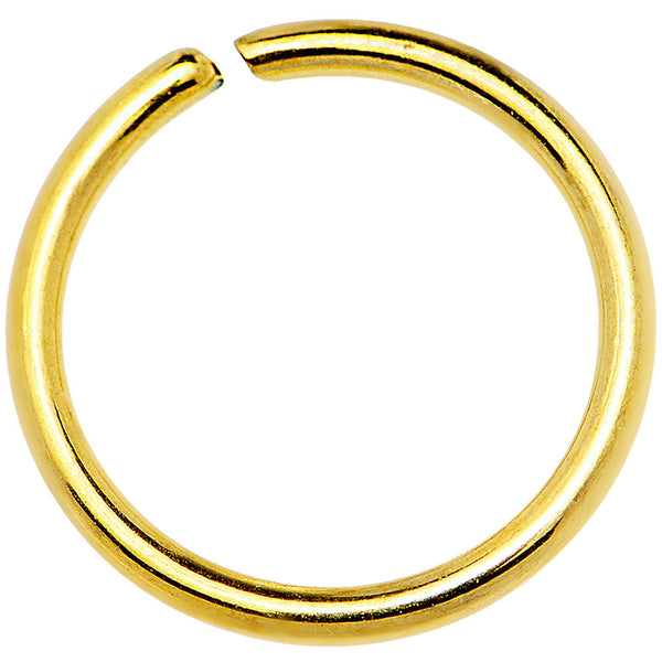 16 Gauge 3/8 Gold IP Annealed Steel Seamless Circular Ring