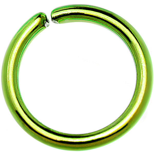 18 Gauge 1/4 Green Anodized Annealed Steel Seamless Circular Ring
