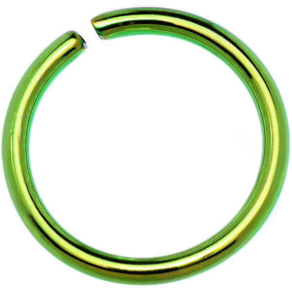 18 Gauge 5/16 Green Anodized Annealed Steel Seamless Circular Ring