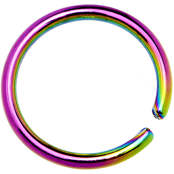 "18 Gauge 5/16"" Rainbow Anodized Annealed Steel Seamless Circular Ring"