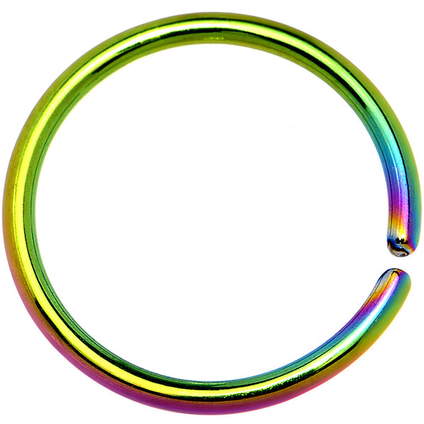 18 Gauge 3/8 Rainbow Anodized Annealed Steel Seamless Circular Ring