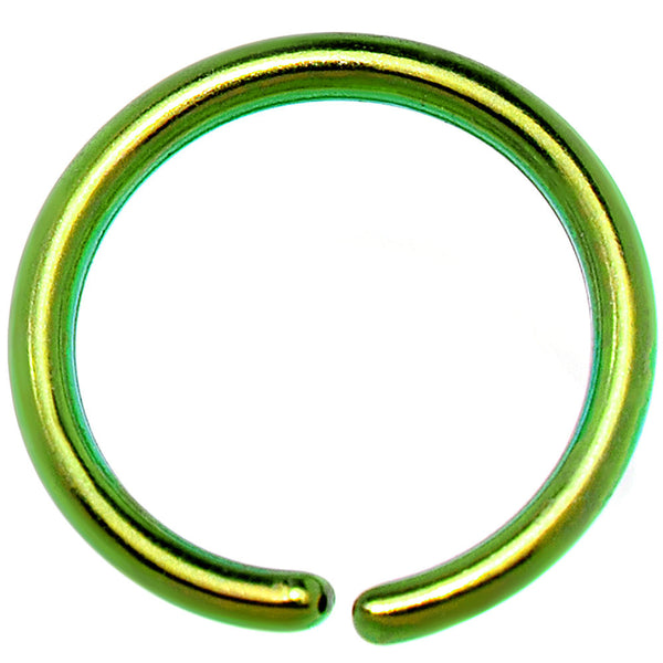 20 Gauge 1/4 Green Anodized Annealed Steel Seamless Circular Ring