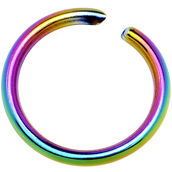 "20 Gauge 1/4"" Rainbow Anodized Annealed Steel Seamless Circular Ring"