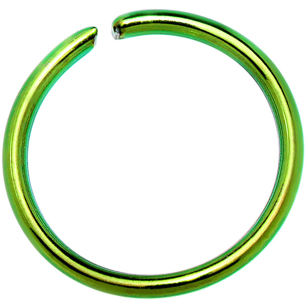 "20 Gauge 5/16"" Green Anodized Annealed Steel Seamless Circular Ring"