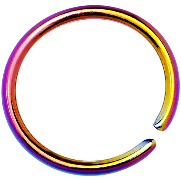 20 Gauge 5/16 Rainbow Anodized Annealed Steel Seamless Circular Ring