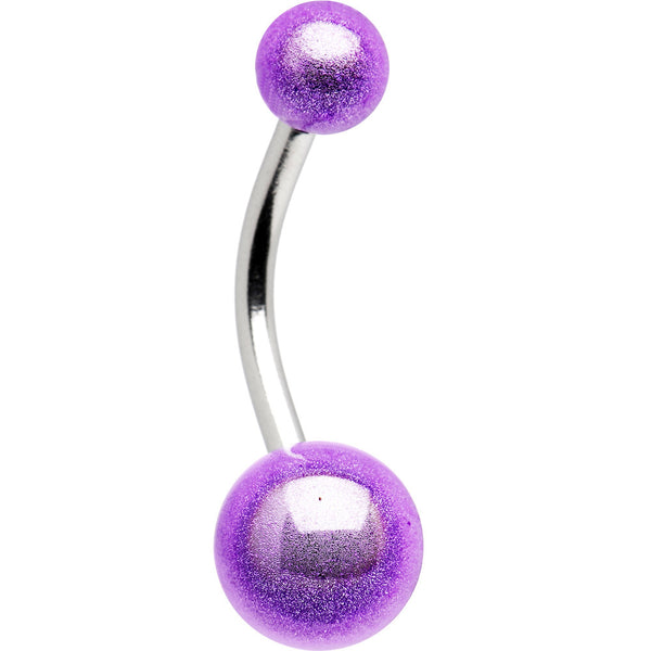 Purple MIRACLE BALL Belly Button Ring