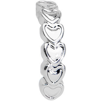 16 Gauge 1/4 Stainless Steel Falling Hearts Tragus Cartilage Earring