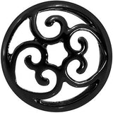 "5/8"" Steel Black Filigree Duet Heart Saddle Plug Set"