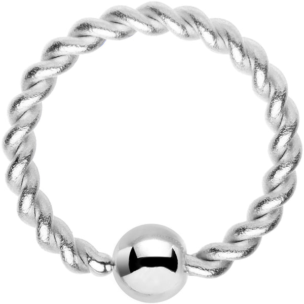 16 Gauge 5/16 Seriously Twisted BCR Captive Ring