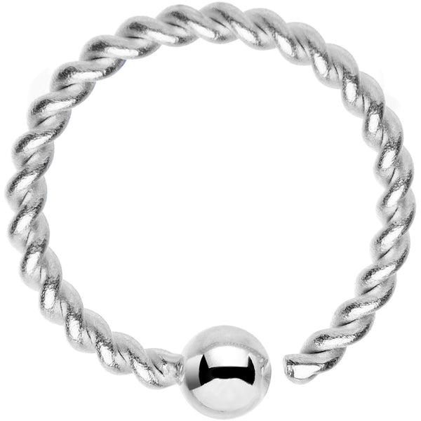 "16 Gauge 3/8"" So Twisted Captive Style Seamless Ring"