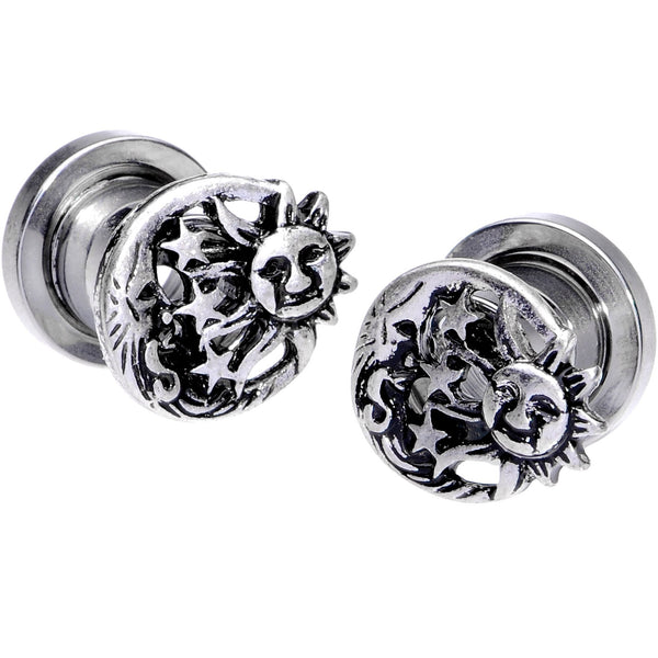 Dynamique Pair of Playboy Bunny Logo in Space Print 316L Surgical Steel Screw FIT Plugs