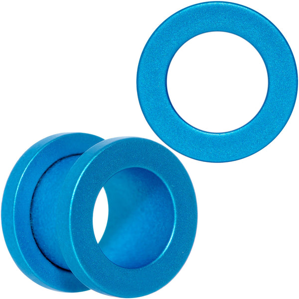Aqua Matte Silicone Screw Fit Tunnel Plug Set 6mm to 25mm
