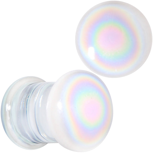 White Glass Radical Radiance Double Flare Plug Set 5mm to 19mm