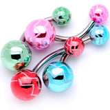 Party Party Party Zig Zag Party Pack Belly Ring Set of 4