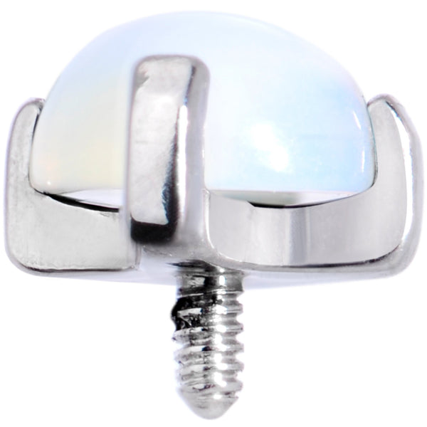 14 Gauge Natural Opalite Externally Threaded Dermal Anchor Top