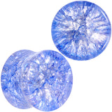 Blue Shattered Glass Wild Child Saddle Plug Set 6mm to 16mm