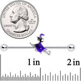 14 Gauge Halloween Way of the Witch Barbell Industrial 38mm