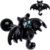 "16 Gauge 5/16"" Black Halloween Batty Bat Cartilage Tragus Earring"