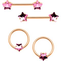 """9/16"""" Divine Henna Rose Gold Tone Anodized Nipple Shield Set by Body Candy"""