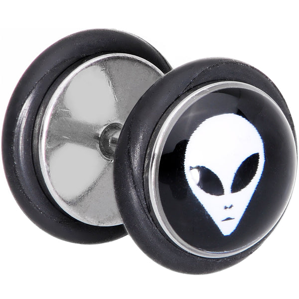 Black White Outer Space Alien Cheater Plug