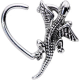 16 Gauge 3/8 Climbing Dragon Left Heart Closure Ring