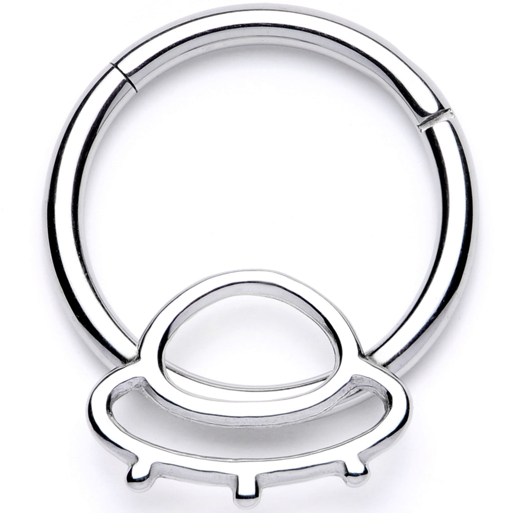 16 Gauge 3 8 Alien Spaceship Hinged Segment Ring Bodycandy