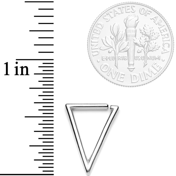 16 Gauge 5/16 Tasteful Geometric Triangle Closure Ring