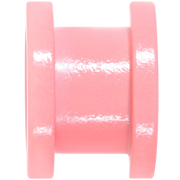 Sweet Pastel Pink Screw Fit Tunnel Plug Set 16 Gauge to 19mm
