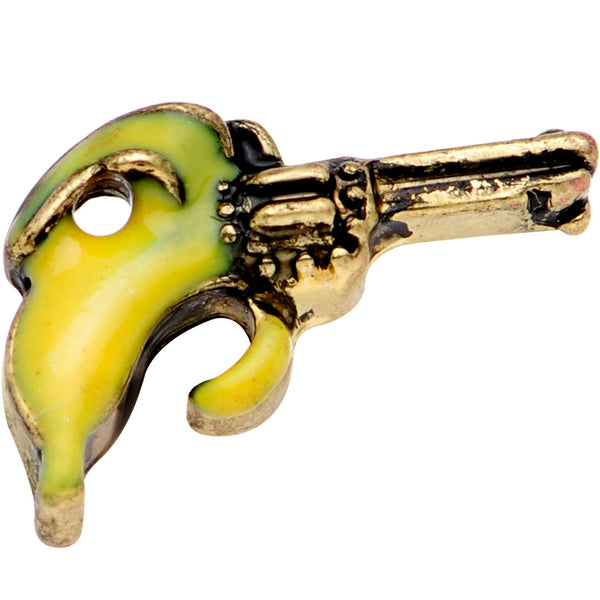 16 Gauge 1/4 Gold Tone Banana Peel Gun Cartilage Tragus Earring