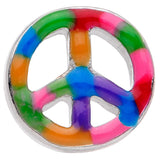 Hippie Rainbow Peace Sign Barbell Tongue Ring