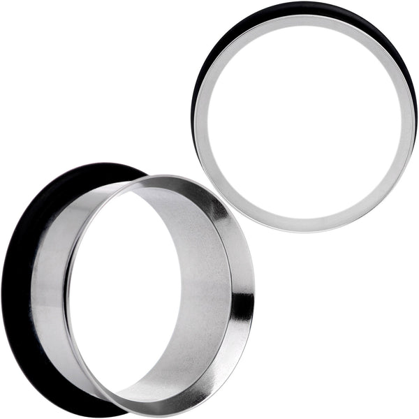 Stainless Steel Single Flare Tunnel Plug Set Available in Sizes  8 Gauge to 1