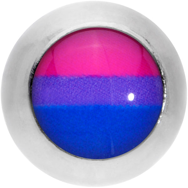 16 Gauge 1/4 Pink Purple Blue Bisexual Pride Flag Cartilage Tragus