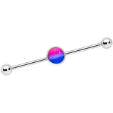 14 Gauge Pink Purple Blue Bisexual Pride Industrial Barbell 38mm