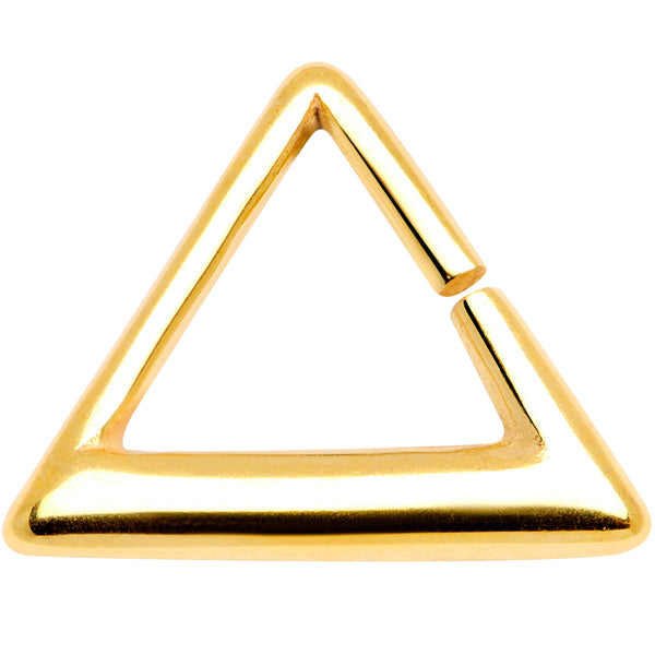 16 Gauge 5/16 Gold Tone Triangle Cartilage Tragus Daith