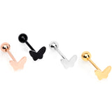 Multicolor Butterfly Barbell Tongue Ring Set of 4
