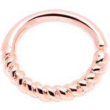 16 Gauge 5/16 Rose Gold Tone Coil Closure Ring