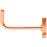 20 Gauge 1/4 Rose Gold Tone New Years Champagne L Shaped Nose Ring