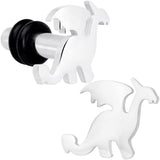 Steel Fantasy Dragon Single Flare Plug Set 14 Gauge to 2 Gauge