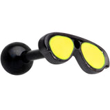 16 Gauge 5/16 Yellow Black Aviator Sunglasses Cartilage Tragus Earring