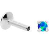 16G 1/4 2mm Blue Syn Opal G23 Titanium Internal Thread Labret