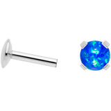 16G 1/4 4mm Blue Syn Opal G23 Titanium Internal Thread Labret