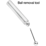 5mm to 6mm Silver Tone Aluminum Body Piercing Ball Removal Tool