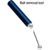 5mm to 6mm Navy Blue Aluminum Body Piercing Ball Removal Tool