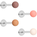 16 Gauge 5/16 Peach Brown White Matte Labret Monroe Tragus Set of 4