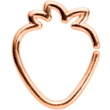 16 Gauge 5/16 Rose Gold Tone Fruit Strawberry Closure Ring