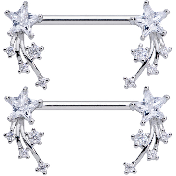 Details about  /Silhouette Star Nipple Ring Body Jewelry Barbell Sold as Pair Dangle Nipplerings