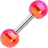 16 Gauge 1/4 Pink Orange Pearlescent Acrylic Cartilage Tragus Barbell