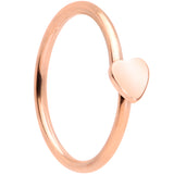 20 Gauge 5/16 Rose Gold Tone Have A Heart Valentines Day Nose Hoop
